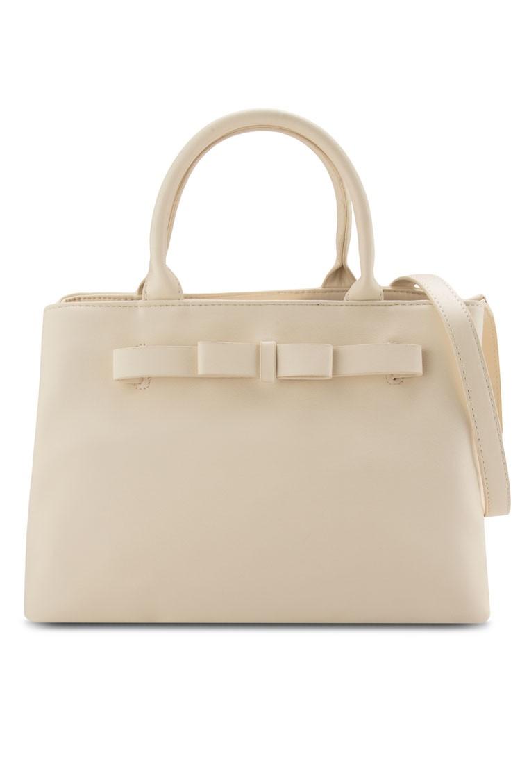 Saffiano Bow Career Tote Bag