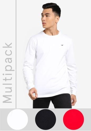 Hollister multi 3-Pack Classic T-Shirts 02EBAAAA10F279GS_1