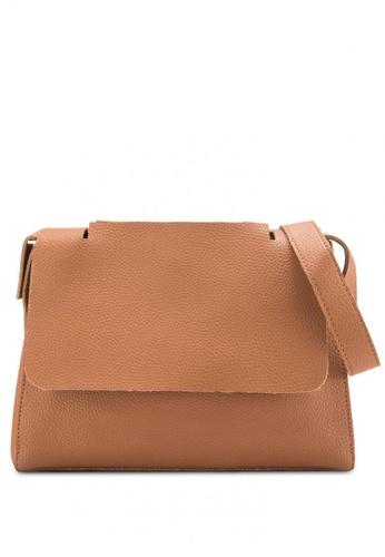 Sunnydaysweety brown Simple Front Flap Shoulder Bag A10110-0BW C7525AC909F30BGS_1