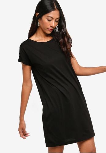 ZALORA BASICS black Basic Jersey T-Shirt Dress DA479AA4F4F181GS_1