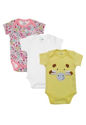 Baby 9months yellow and multi Newborn Baby Yellow Cow Romper Set (3pcs) 4DA0CKA2B3A005GS_1