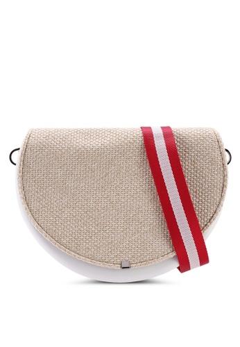 Hoola Hoola white Chiara Saddle - Eggshell White Woven with Crimson Nylon strap EC90FAC72759B3GS_1
