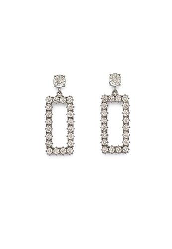 Crystal Korea Fashion black Korean Ornate Square Diamond Earrings 36184ACC3CE0C5GS_1