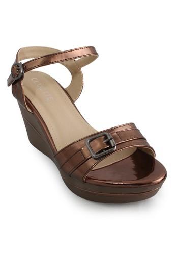 CLARETTE brown Clarette Wedges Keisha Brown CL076SH94CMRID_1