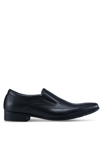 Louis Cuppers black Faux Leather Business Shoes 6EAC7SHDB3AC6EGS_1