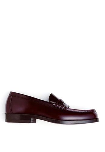 HARUTA 紅色 男裝經典樂福皮鞋-906 17A3ESH9FA79ABGS_1