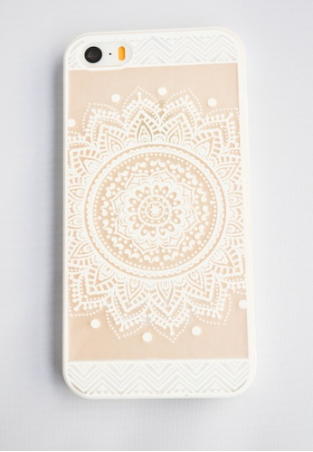 Fancy Cellphone Cases white Mandala Case for iPhone 5 and 5s FA644AC60EYPPH_1