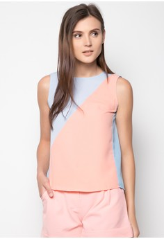 David Colorblock Top