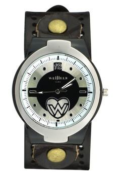 Weijieer Vintage Leather Strap Watch Analog Watch