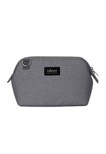 ideer grey Caro Misty Grey Mirrorless Camera Cross Bag ID960AC08VXJHK_1