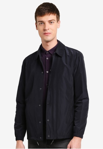 Burton Menswear London navy Navy Coach Jacket BU964AA0SHNSMY_1