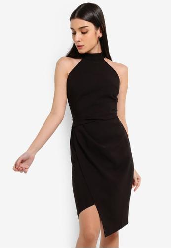 Lipsy black Petite Black Halter Bodycon Dress 389DBAAD06F7D2GS_1