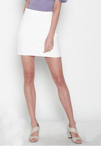 JOVET white Mini Skirt 58C99AA1041508GS_1