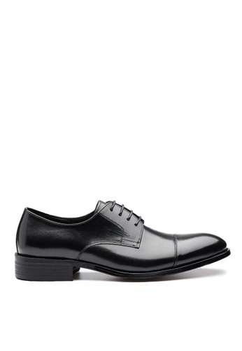 Kings Collection black Layton Cap Toe Derby Shoes 9726ASH5098E4FGS_1