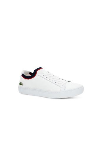 Lacoste white Lacoste Men's La Piquée Textile and Leather Trainers 6E053SHFC875B2GS_1