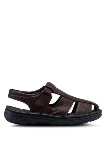 Bata brown Casual Faux Leather Sandals 086CDSH0113016GS_1