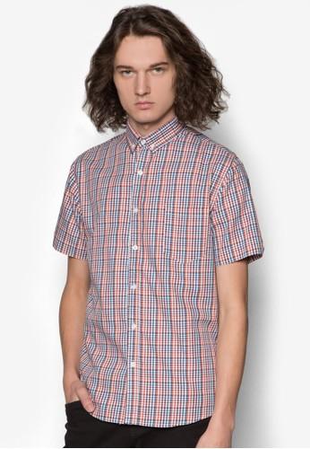 格紋短袖襯衫, 服飾esprit 童裝, 襯衫