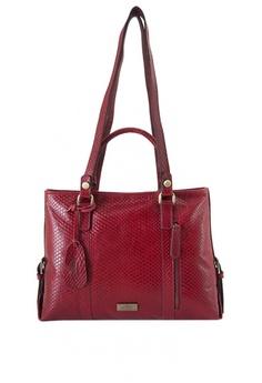 fdb9e318050c The Tannery Manila red Shaina Leather Handbag EF73AAC7E9057BGS 1