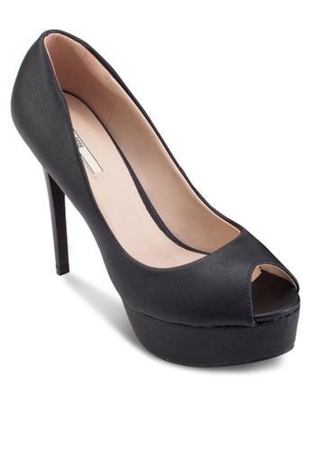 露趾厚底細跟高esprit outlet 家樂福跟鞋, 女鞋, 鞋