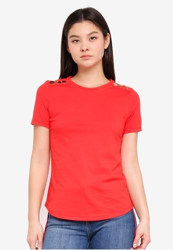 Dorothy Perkins red Trim Tshirt FD9D2AACEE219EGS_1