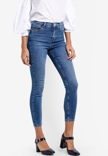 TOPSHOP blue Moto Rich Indigo Jamie Jeans TO412AA24NFNMY_1