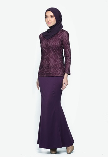 Kurung Lace Mulan Purple from Seri Maharani in purple_1