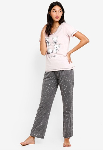 Dorothy Perkins pink Pink Koala Bear Pyjamas 6D8FFAA6F8AB41GS_1