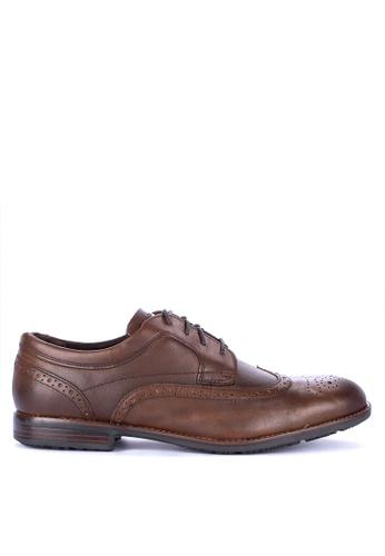 Rockport brown Dustyn Wingtip Dress Shoes EF88ESHB862218GS_1