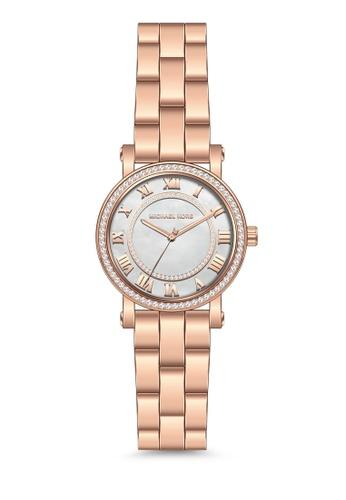 d7f2ae3e6e45 MICHAEL KORS gold Michael Kors Norie Rose Gold Stainless Steel Watch MK3558  MI165AC76MZVMY 1