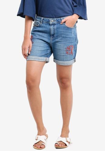 ESPRIT blue Denim Regular Shorts 78B64AA1AB7F5EGS_1