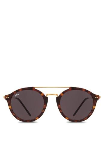 Fitzroy 玳esprit 兼職瑁圓框太陽眼鏡, 飾品配件, 飾品配件