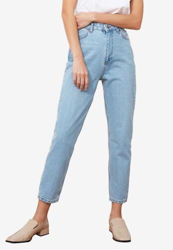 Trendyol blue High Waist Mom Jeans 5FFDAAA5E243FAGS_1