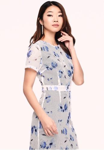 0aef3d5331c Nichii white Textured Floral Eyelet Dress C7BCBAADAC6CC1GS 1