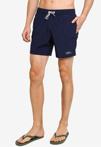 Hollister navy Solid Swim Shorts 0CFEEUSE7C9B81GS_1