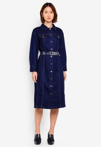 Haute Kelly blue Kyung-Ah Denim Dress 4D3DAAA2C419E5GS_1