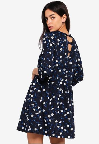 Liquorish black Flower Print Shirt Dress 5A9C0AA9DCB4A2GS_1