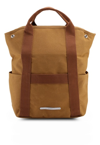 Rawrow brown Wax 295 2 Way Cotna Backpack 87418AC41A6CD4GS_1