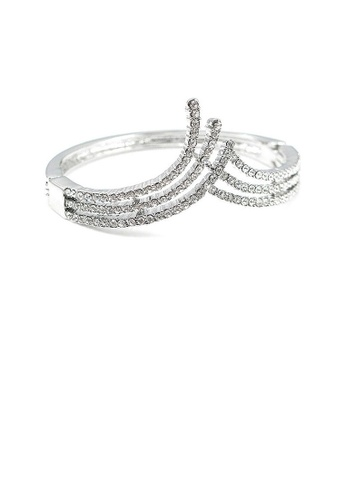 Glamorousky silver Elegant Bangle with Silver Austrian Element Crystal 09F47ACE59AB48GS_1