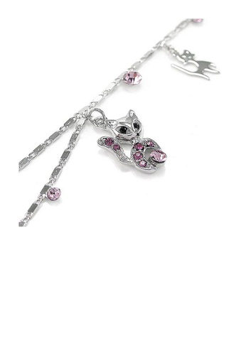 Glamorousky purple Cutie Cat Anklet with Purple Austrian Element Crystals 6F383AC4C8F6FFGS_1
