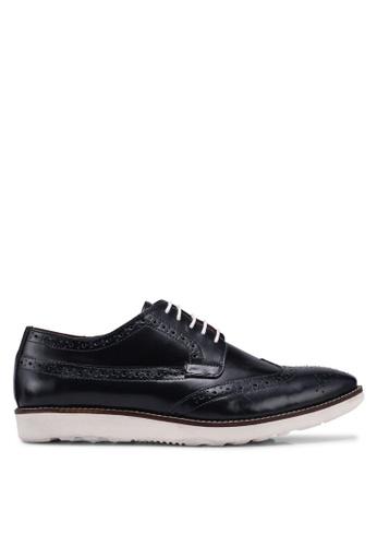 ACUTO blue Leather Brogue Shoes 436C3SH4C82317GS_1