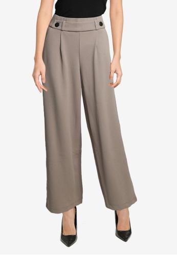 JACQUELINE DE YONG beige Geggo New Long Pants 65B9EAA6AC94A4GS_1