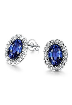 Lorraine White Gold Plated Earrings