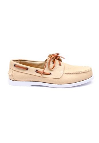 Moley beige Authentic Canvas Boat Shoe MO329SH75NHWSG_1