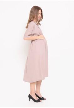 Chantilly beige Chantilly Dress 2in1 Hamil/Menyusui dengan Slimming Effect 53053 L.BR 4B315AACA825E2GS_1