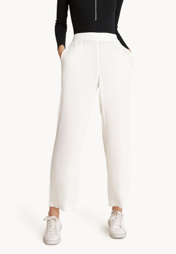 Pomelo white Loose Relaxed Pants - White 0C8AAAAB9FE9E7GS_1