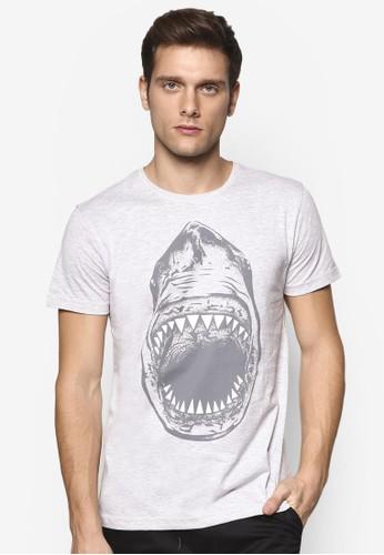鯊魚圖案設計TEE, 服飾,esprit旗艦店 印圖T恤