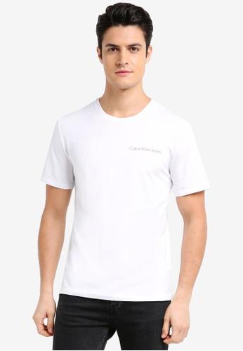 Calvin Klein white A-Tox Regular Short Sleeve Crew Neck Tee - Calvin Klein Jeans 1A126AA2C56303GS_1
