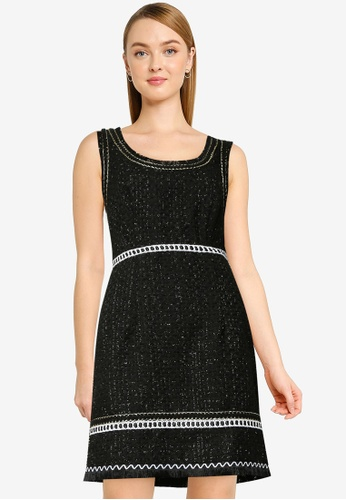 Urban Revivo black Fashion Boucle Dress AB84DAAFF70F51GS_1