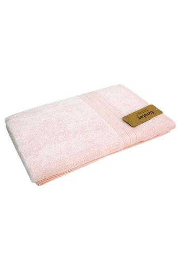 Eurotex Eurotex 100% Bamboo Bath Towel, Pink (Size 140 x 70cm) D97EAHL3E453F1GS_1