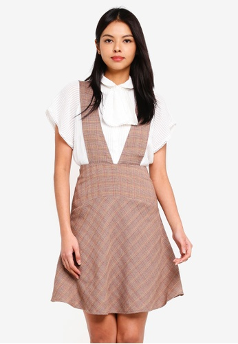 ESPRIT brown Woven Midi Dress 9BD97AA4969A2AGS_1